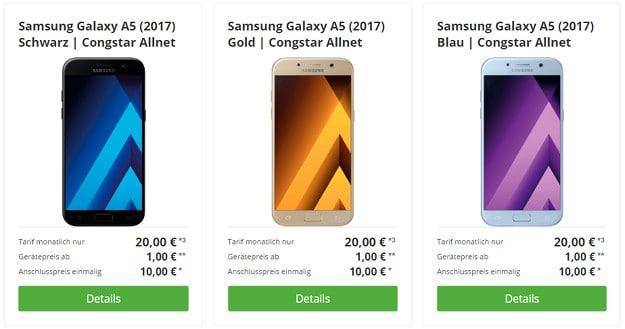 Samsung Galaxy A5 + congstar Allnet-Flat Ttw