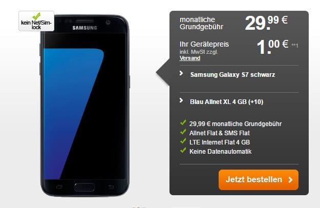 Samsung Galaxy S7 + Blau Allnet XL