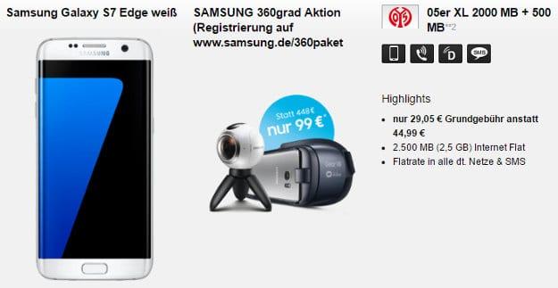 Samsung Galaxy S7 + Mainz 05 Tarif XL