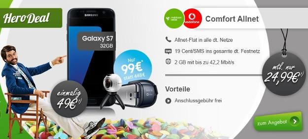 Samsung Galaxy S7 + Vodafone Comfort Allnet (md) Rundumpaket