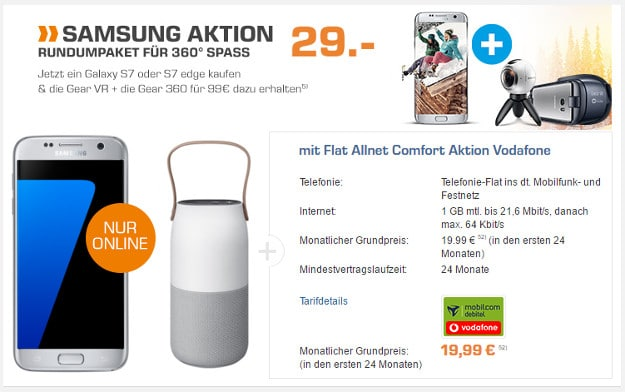 Samsung Galaxy S7 + Vodafone Flat Allnet Comfort (md)