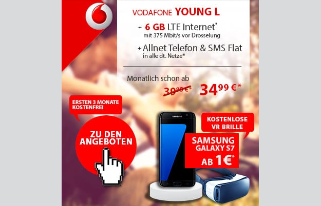 Samsung Galaxy S7 + Vodafone Young L