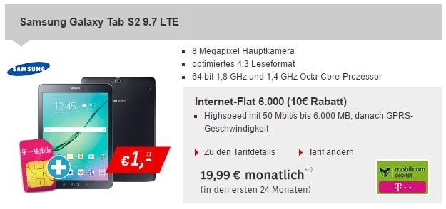 Samsung Galaxy Tab S2 + Internet Flat 6000