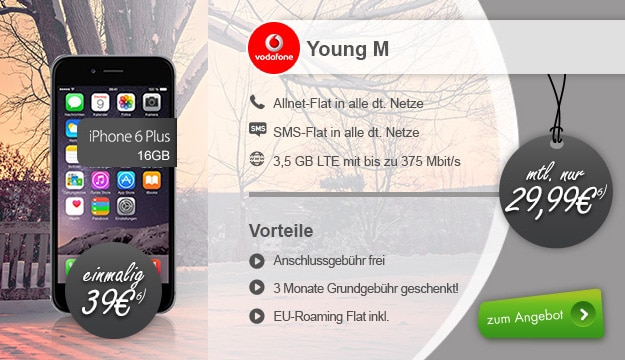iPhone 6 Plus + Vodafone Young M