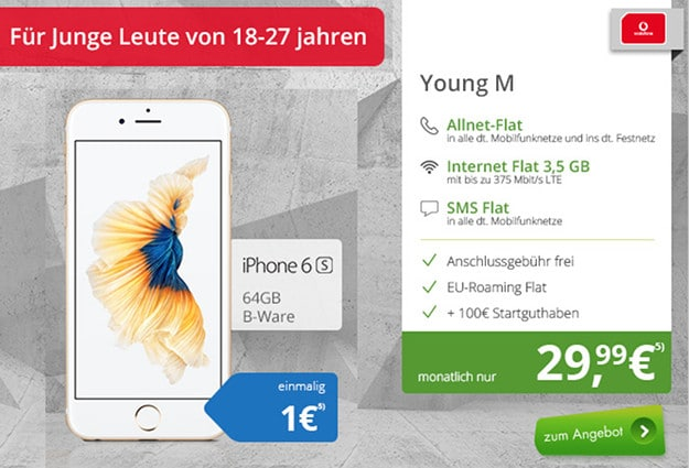 iPhone 6s (B-Ware) + Vodafone Young M