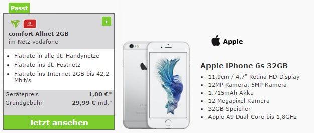 iPhone 6s + Vodafone Comfort Allnet (md)
