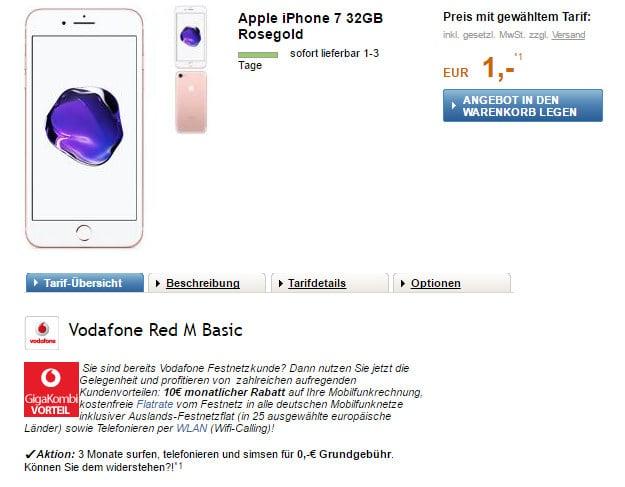 iPhone 7 + Vodafone Red M LogiTel