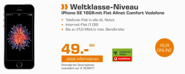 iPhone SE + Vodafone Flat Allnet Comfort (md)