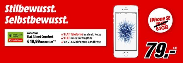 iPhone SE + Vodafone Flat Allnet Comfort neu