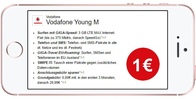 iPhone SE + Vodafone Young M LogiTel