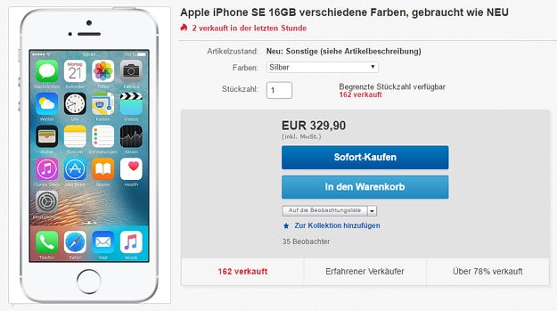 iPhone SE eBay