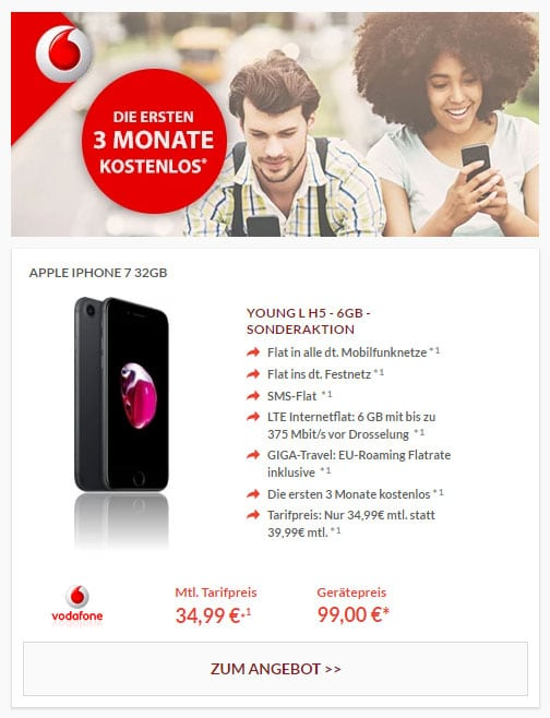 iPhone7 - Vodafone Young L