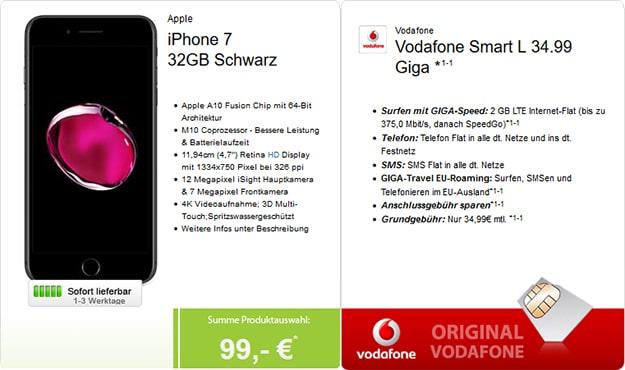 vodafone smart l iphone 7