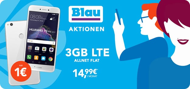 Huawei P8 Lite + Blau Allnet L Banner