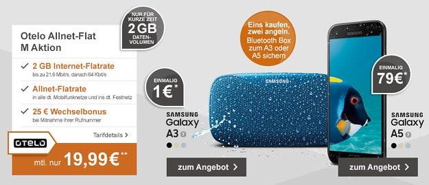 Samsung Galaxy A3 + otelo Allnet-Flat M 2GB