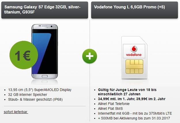 Samsung Galaxy S7 Edge + Vodafone Young L modeo
