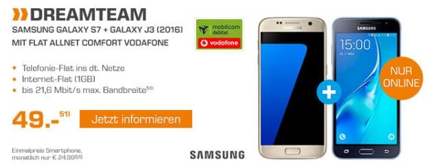 Samsung Galaxy S7 + J3 Dreamteam