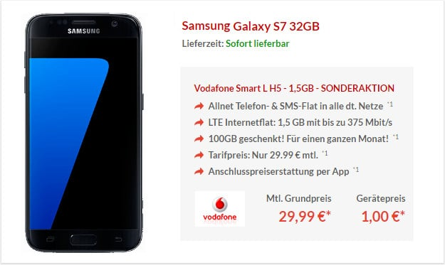 Samsung Galaxy S7 + Vodafone Smart L Pb24