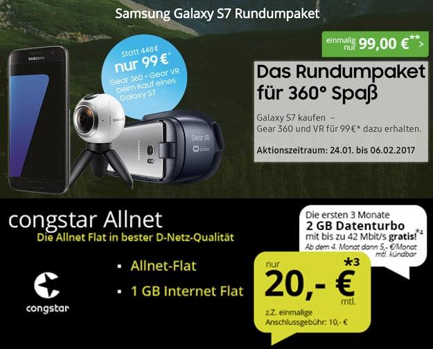 Samsung Galaxy S7 + congstar Allnet-Flat