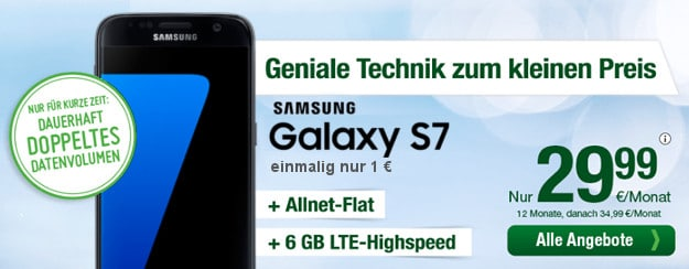 Samsung Galaxy S7 + smartmobil Allnet-Flat