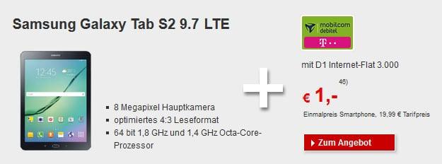 Samsung Galaxy Tab S2 LTE - Telekom Datentarif 3 GB LTE