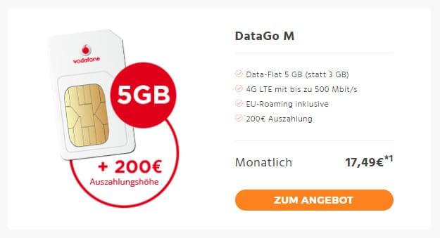 Vodafone DataGo M SIM-only