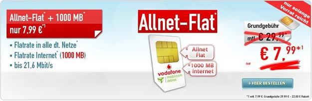 Vodafone Flat Allnet Comfort (md) Handybude