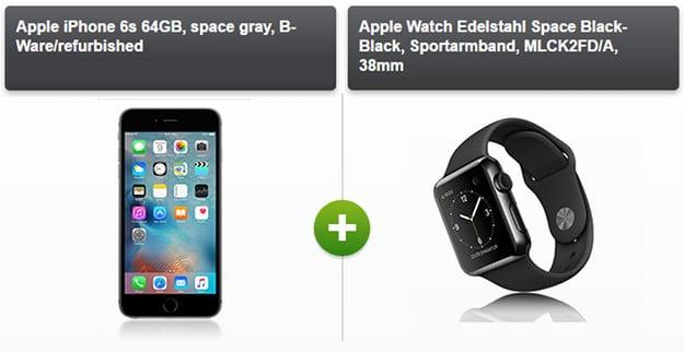 iPhone 6s + Apple Smart Watch