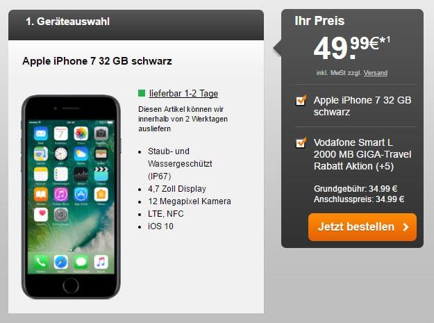 iPhone 7 + Vodafone Smart L Hf