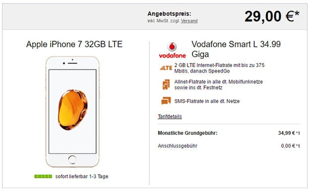 iPhone 7 + Vodafone Smart L LogiTel