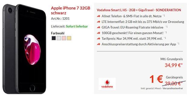 iPhone 7 + Vodafone Smart L Pb24 1 Euro