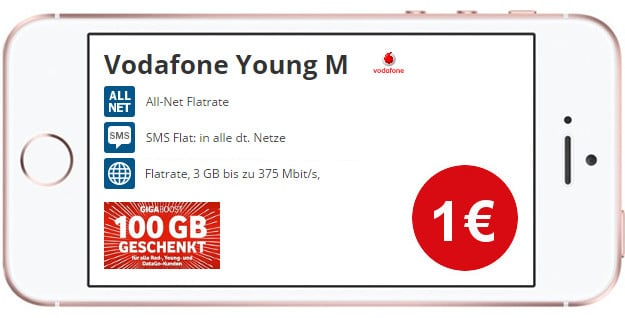 iPhone SE + Vodafone Young M Ttw