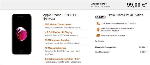 iphone 7 + otelo allnet flat xl