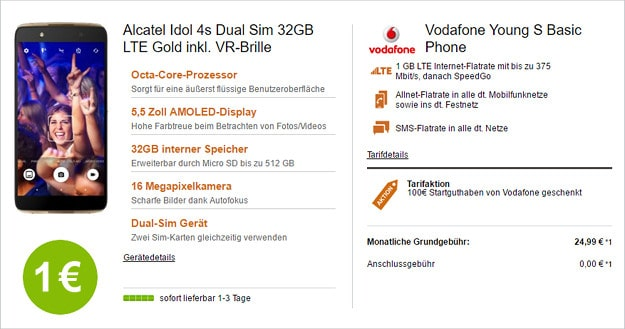 Alcatel Idol 4s + Vodafone Young S