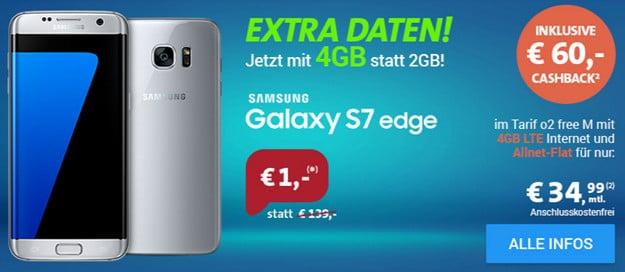 Galaxy S7 Edge + o2 Free Sh