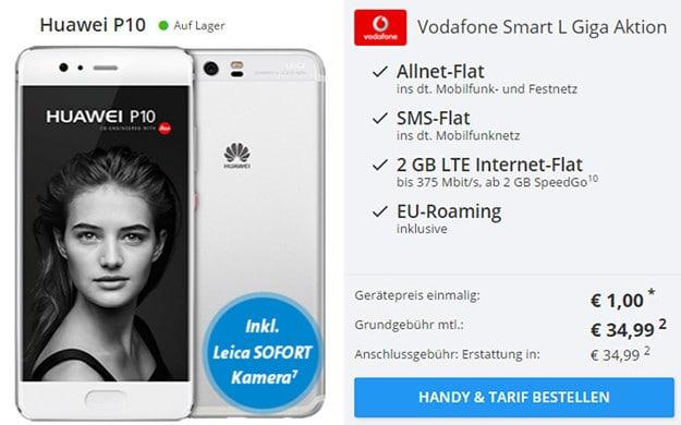 Huawei P10 + Vodafone Smart L sofort lieferbar