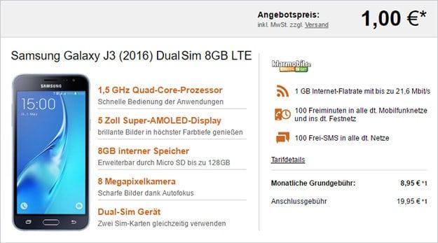 Samsung Galaxy J3 + km Smart Flat 1000