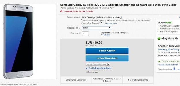 Samsung Galaxy S7 Edge Retourenware eBay