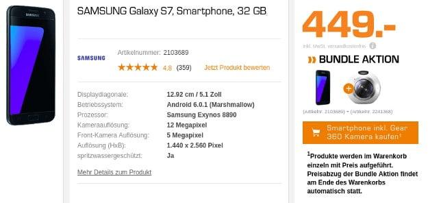 Samsung Galaxy S7 + Gear 360 Saturn