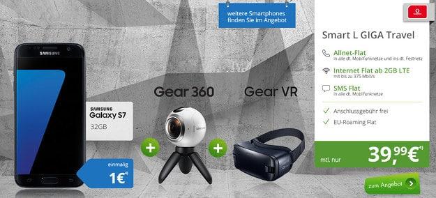 Samsung Galaxy S7 + Gear-VR + Gear 360 + Vodafone Smart L