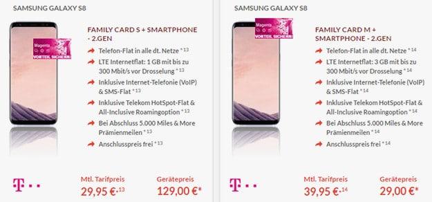Samsung Galaxy S8 + Telekom Family Card