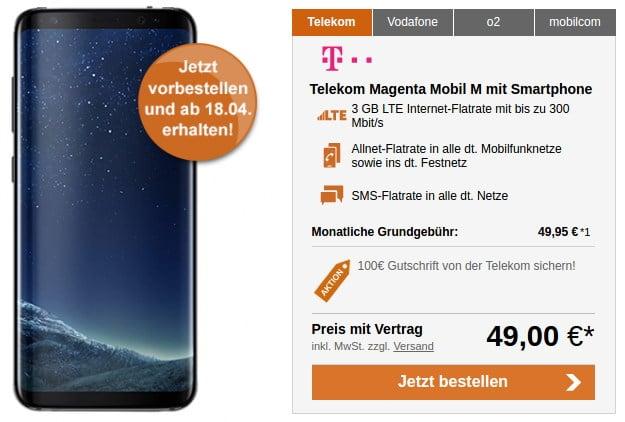 Samsung Galaxy S8 + Telekom Magenta Mobil M