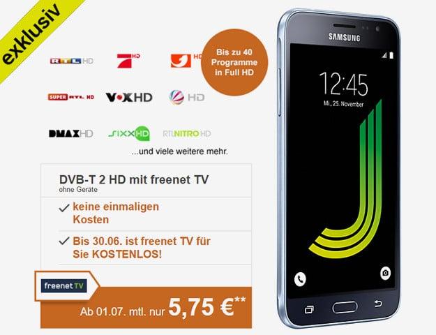 freenet TV + Samsung Galaxy J3