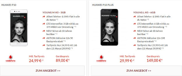 huawei p10 plus vodafone young l