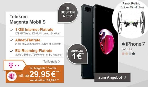 iPhone 7 + Telekom Magenta Mobil S mit Drohne