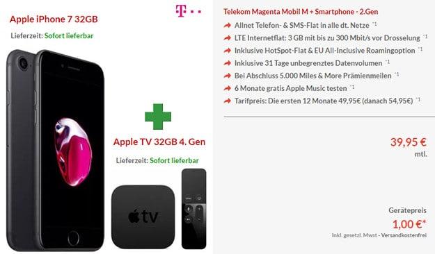 iPhone 7 + apple TV + Telekom Magenta Mobil M