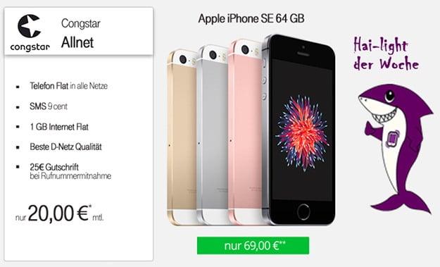 iPhone SE + congstar Allnet-Flat