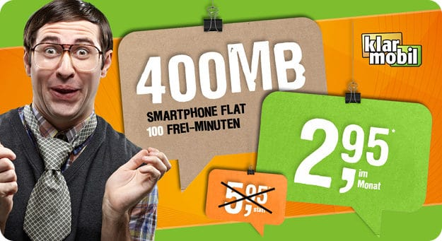 klarmobil Smartphone Flat 400 Handyflash