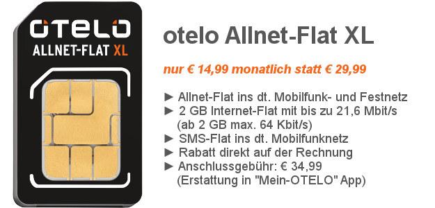 otelo Allnet-Flat XL SIM-only