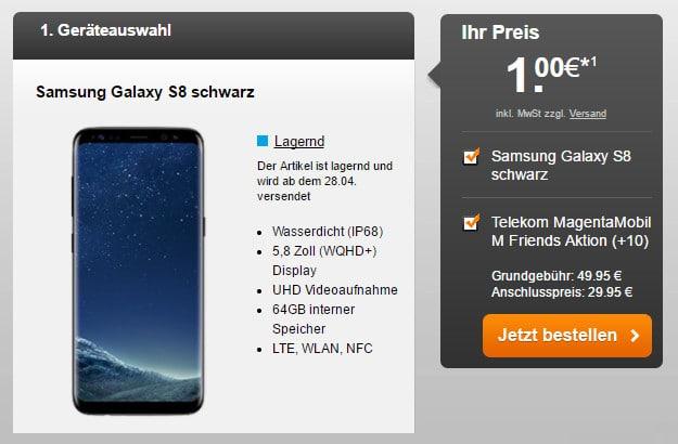 Samsimg Galaxy S8 + Mobil M Handyflash